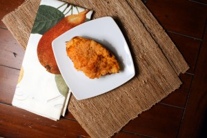 Twice Baked Sweet Potato with Apple