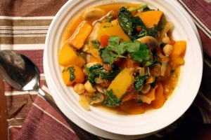 Squash Chickpea Raisin Stew with Couscous