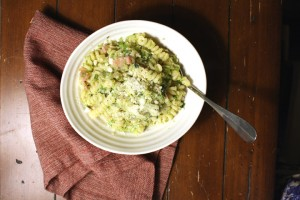 Brussels Sprout Pancetta Pasta