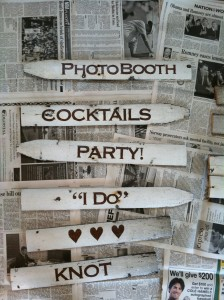 DIY picket fence wedding signage