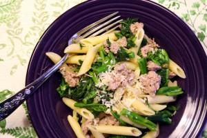 Pasta with Sausage and Broccoli Rape