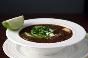 Black Bean Soup ~ ElephantEats.com