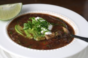 Black Bean Soup ~ ElephantEats.com
