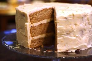 Spice Cake with Orange Cream Cheese Frosting ~ ElephantEats.com