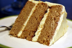 Spice Cake with Orange Cream Cheese Frosting ~ ElephantEats.com