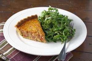 Tomato Quiche ~ ElephantEats.com