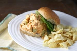 """Buffalo"" Chicken Salad Sandwiches ~ ElephantEats.com"