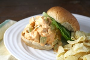 """Buffalo"" Chicken Salad Sandwiches ~ ElephantEats.com"