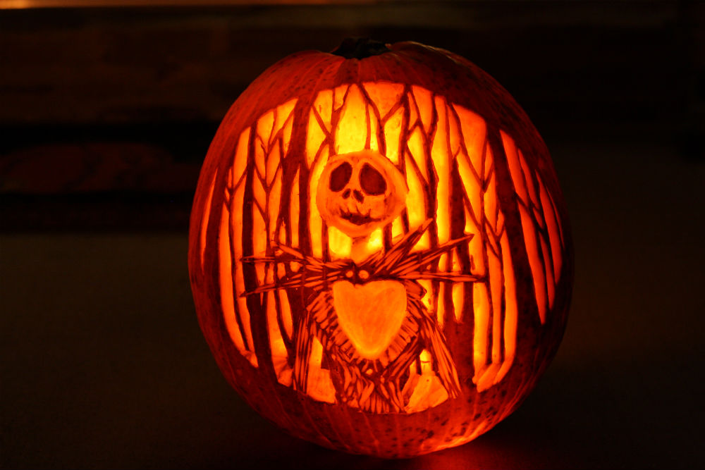 Nightmare Before Christmas jack-o-lantern ~ ElephantEats.com