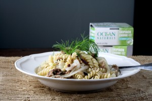 Light Lemony Tuna Pasta with Fennel, Capers, and Olives ~ ElephantEats.com