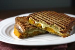 Butternut Squash Pesto Grilled Cheese ~ ElephantEats.com