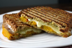 Butternut Squash Pesto Grilled Cheese ~ ElephantEats.com