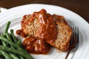 Mom's Barbecued Meatloaf ~ ElephantEats.com