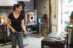Hudson Beach Glass glassblowing lesson ~ ElephantEats.com