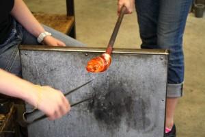 Hudson Beach Glass glassblowing lesson ~ ElephantEats.com