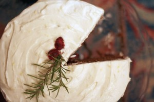 Gingerbread Layer Cake with Cream Cheese Frosting ~ ElephantEats.com