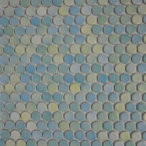 Terra Tile and Marble- Penny Round Blue Yellow