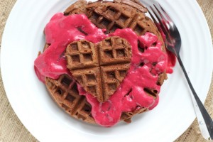 Chocolate Almond Waffles ~ ElephantEats.com
