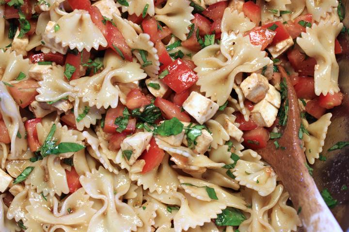 Caprese Pasta Salad 2 ~ ElephantEats.com