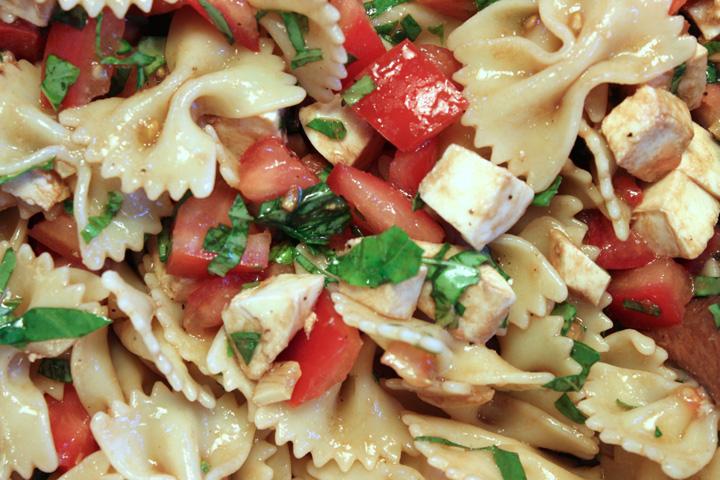 Caprese Pasta Salad 3 ~ ElephantEats.com