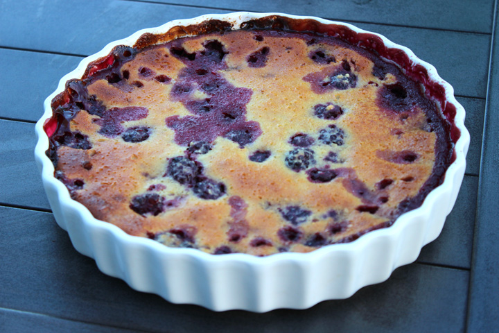 Blackberry Clafoutis ~ ElephantEats.com