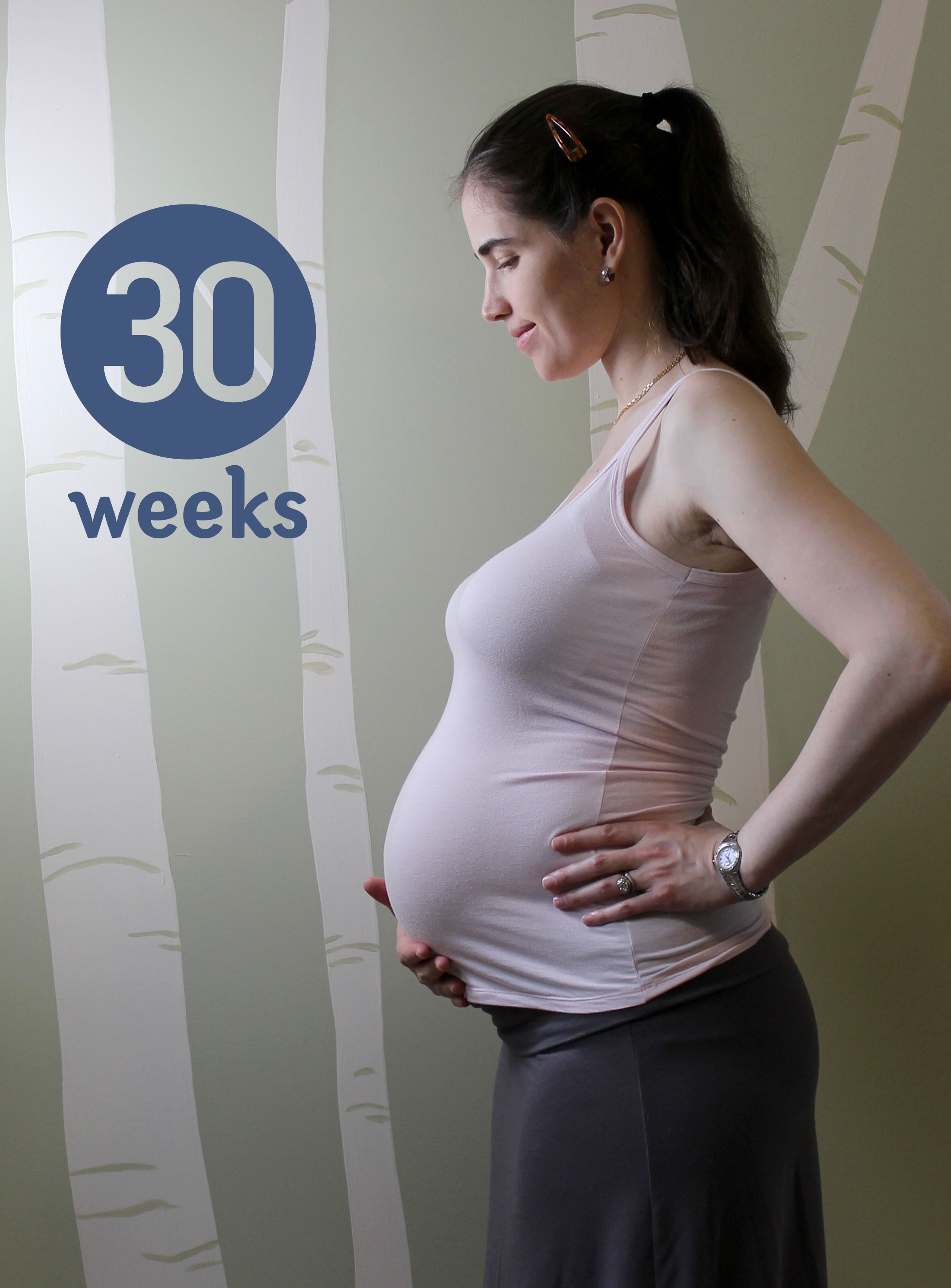 30 week pregnant belly
