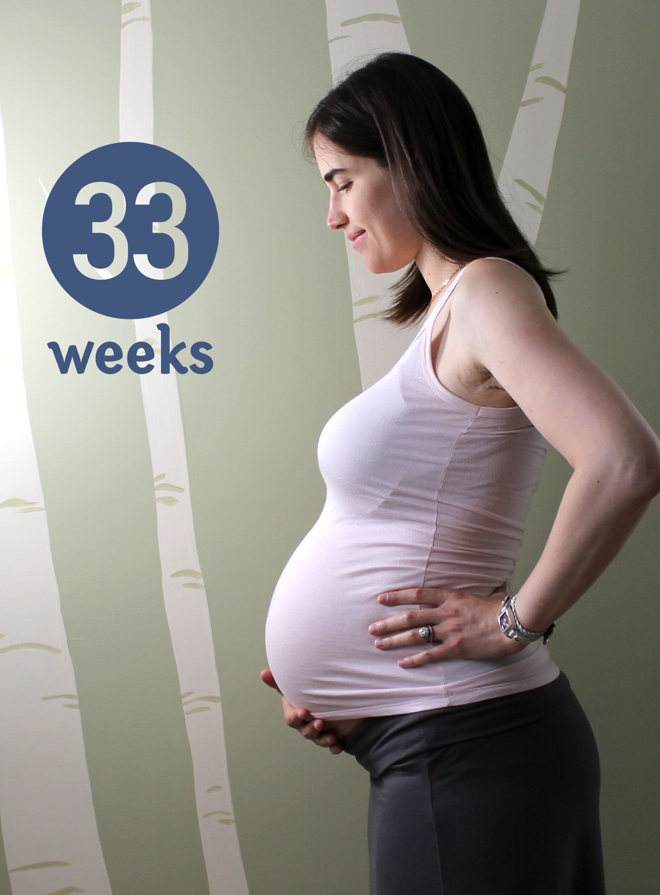 33 week Pregnancy Pic ~ ElephantEats.com