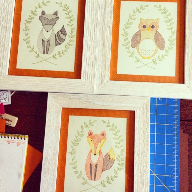 Woodland Nursery artwork ~ ElephantEats.com