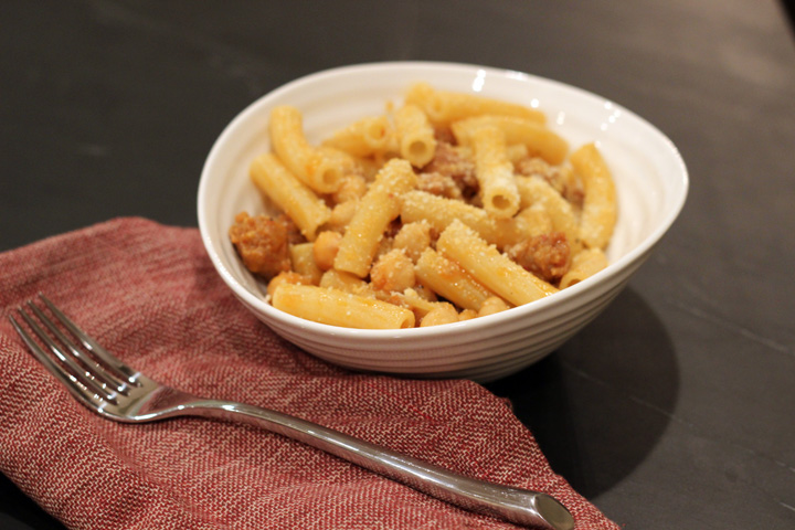 Pasta with Sausage and Chickpeas 3 ~ ElephantEats.com