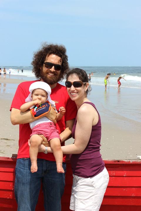 10 months family beach pic ~ ElephantEats.com