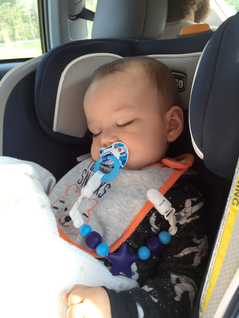 10 months car nap ~ ElephantEats.com